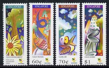 Singapore 1997 Ministry of the Environment perf set of 4 unmounted mint SG 904-7