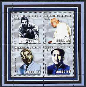 Mozambique 2002 Celebrities perf sheetlet containing 4 values unmounted mint (C Guevara, Pope, M L King & Mao) Yv 2064-7