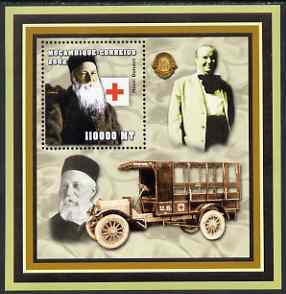 Mozambique 2002 Scientist Doctors perf s/sheet containing 1 value unmounted mint (Henri Dunant with Red Cross & Lions logos)