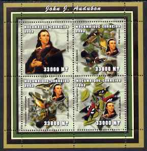 Mozambique 2002 John Audubon perf sheetlet containing 4 values unmounted mint Yv 2038-41