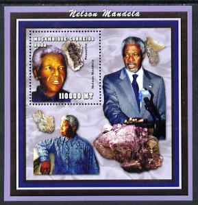 Mozambique 2002 Minerals & Nelson Mandela perf s/sheet containing 1 value unmounted mint Yv 117