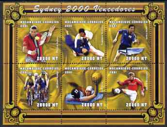 Mozambique 2001 Sydney Olympics perf sheetlet containing 6 values unmounted mint (6 x 28,000 MT) Yv 1578-83, Mi 1918-23