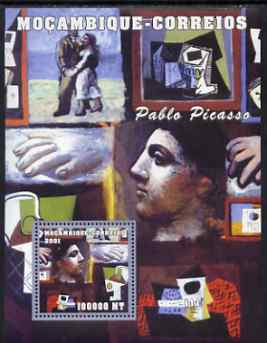 Mozambique 2001 Paintings by Pablo Picasso perf s/sheet #1 unmounted mint (100,000 MT) Mi 2171