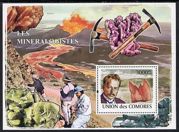 Comoro Islands 2008 Mineralogists & Minerals perf s/sheet unmounted mint