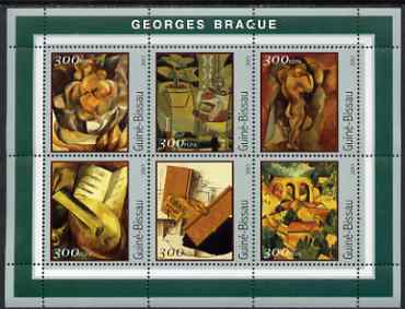 Guinea - Bissau 2001 Paintings by Georges Braque perf sheetlet containing 6 values unmounted mint Mi 1600-05