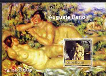 Guinea - Bissau 2001 Paintings by Auguste Renoir perf s/sheet containing 1 value (2,500 FCFA) unmounted mint Mi BL 339