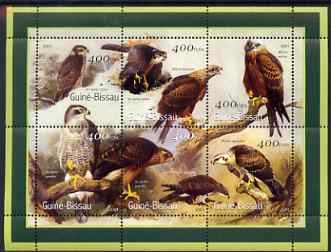 Guinea - Bissau 2001 Eagles perf sheetlet containing 6 values (400 FCFA) unmounted mint Mi 1437-42