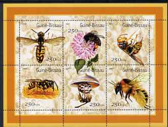 Guinea - Bissau 2001 Bees perf sheetlet containing 6 values (250 FCFA) unmounted mint Mi 1510-15