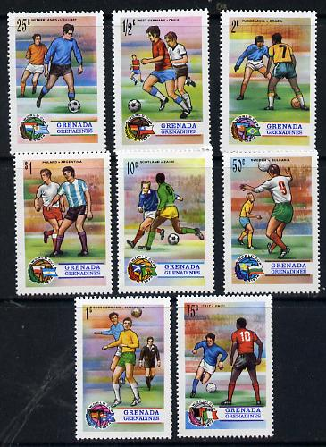 Grenada - Grenadines 1974 Football World Cup set of 8 unmounted mint, SG 16-23