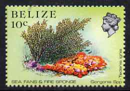 Belize 1984-88 Sea Fans & Fire Sponge 10c perf 13.5 unmounted mint SG 772a