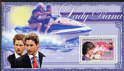 Guinea - Conakry 2006 Princess Diana perf s/sheet #03 containing 1 value (in Power Boat) unmounted mint Yv 345
