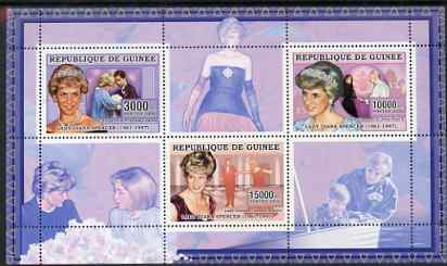 Guinea - Conakry 2006 Princess Diana perf sheetlet #2 containing 3 values unmounted mint Yv 2712-14