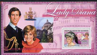 Guinea - Conakry 2006 Princess Diana perf s/sheet #04 containing 1 value (St Pauls) unmounted mint Yv 346