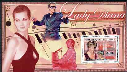 Guinea - Conakry 2006 Princess Diana perf s/sheet #05 containing 1 value (George Michael & Elton John) unmounted mint Yv 347