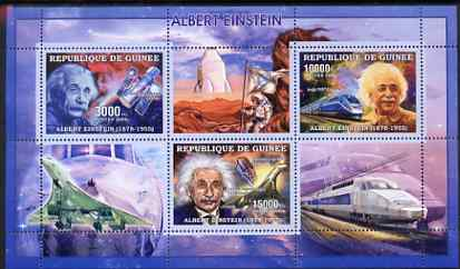 Guinea - Conakry 2006 Albert Einstein perf sheetlet containing 3 values unmounted mint Yv 2685-87
