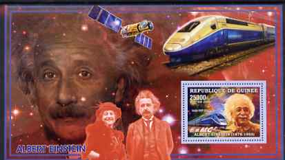 Guinea - Conakry 2006 Albert Einstein perf s/sheet #2 containing 1 value (High Speed Train) unmounted mint Yv 320