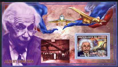 Guinea - Conakry 2006 Albert Einstein perf s/sheet #3 containing 1 value (Concorde) unmounted mint Yv 321