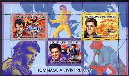 Guinea - Conakry 2006 Elvis Presley perf sheetlet containing 3 values unmounted mint Yv 2688-90