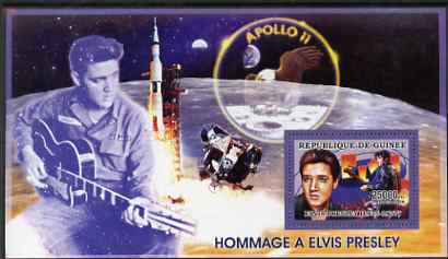 Guinea - Conakry 2006 Elvis Presley perf s/sheet #1 containing 1 value (Apollo 11) unmounted mint Yv 322