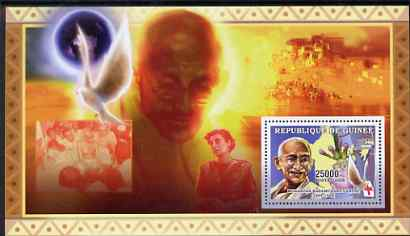 Guinea - Conakry 2006 The Humanitarians perf s/sheet #2 containing 1 value (Gandhi) unmounted mint Yv 332