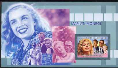 Guinea - Conakry 2006 Marilyn Monroe perf s/sheet #1 containing 1 value (with Arthur Miller) unmounted mint Yv 325