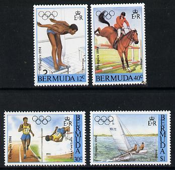 Bermuda 1984 Los Angeles Olympic Games set of 4 (Swimming, Athletics, Equestrian & Sailing) unmounted mint, SG 478-81