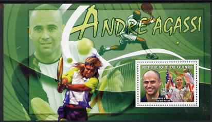 Guinea - Conakry 2006 Sporting Stars perf s/sheet #1 containing 1 value (Andre Agassi) unmounted mint Yv 334