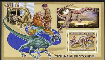 Guinea - Conakry 2006 Centenary of Scouting perf s/sheet #01 containing 1 value (Dinosaurs) unmounted mint Yv 337
