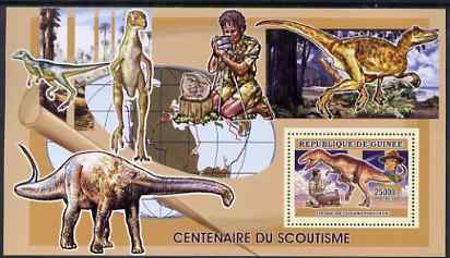 Guinea - Conakry 2006 Centenary of Scouting perf s/sheet #02 containing 1 value (Dinosaurs) unmounted mint Yv 338