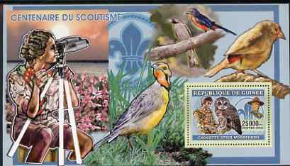 Guinea - Conakry 2006 Centenary of Scouting perf s/sheet #04 containing 1 value (Owls) unmounted mint Yv 340