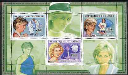 Guinea - Conakry 2006 Princess Diana perf sheetlet #3 containing 3 values unmounted mint Yv 2715-17