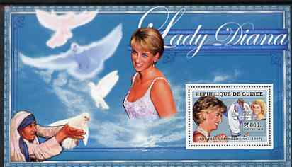 Guinea - Conakry 2006 Princess Diana perf s/sheet #07 containing 1 value (with Mother Teresa) unmounted mint Yv 349