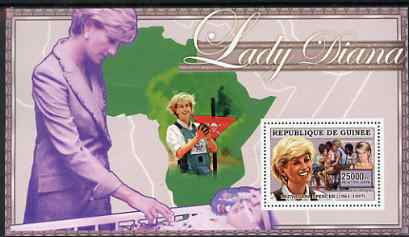 Guinea - Conakry 2006 Princess Diana perf s/sheet #10 containing 1 value (Land Mine Campaign) unmounted mint Yv 352