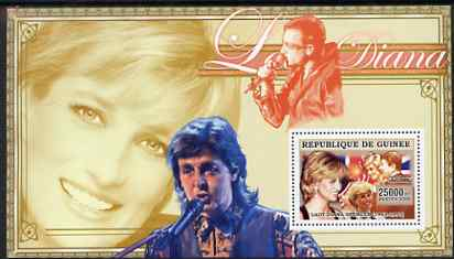 Guinea - Conakry 2006 Princess Diana perf s/sheet #11 containing 1 value (Paul McCartney & Bono) unmounted mint Yv 353