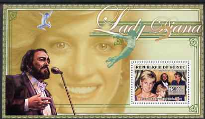 Guinea - Conakry 2006 Princess Diana perf s/sheet #12 containing 1 value (with Pavarotti) unmounted mint Yv 354