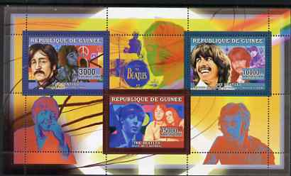 Guinea - Conakry 2006 The Beatles perf sheetlet containing 3 values unmounted mint Yv 2721-22