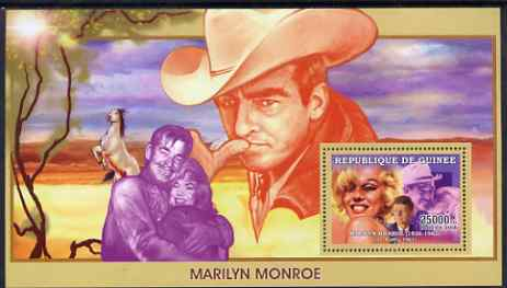 Guinea - Conakry 2006 Marilyn Monroe perf s/sheet #4 containing 1 value (Misfits) unmounted mint Yv 358