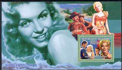 Guinea - Conakry 2006 Marilyn Monroe perf s/sheet #8 containing 1 value (River of no Return) unmounted mint Yv 365