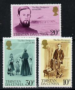 Tristan da Cunha 1981 Cent of Rev Edwin Dodgson's Arrival set of 3 unmounted mint SG 300-302