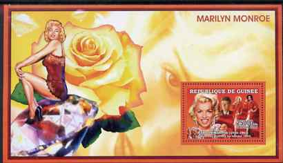 Guinea - Conakry 2006 Marilyn Monroe perf s/sheet #9 containing 1 value (Gentlemen Prefer Blondes) unmounted mint Yv 366
