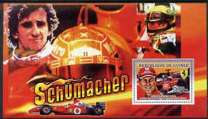 Guinea - Conakry 2006 Michael Schumacher - F1 Champion perf s/sheet #1 containing 1 value (Alain Prost) unmounted mint Yv 367