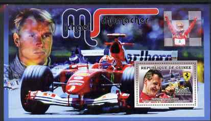 Guinea - Conakry 2006 Michael Schumacher - F1 Champion perf s/sheet #2 containing 1 value (Mika Hakkinen) unmounted mint Yv 368, stamps on personalities, stamps on sport, stamps on formula 1, stamps on  f1 , stamps on cars, stamps on ferrari