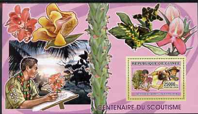 Guinea - Conakry 2006 Centenary of Scouting perf s/sheet #07 containing 1 value (Orchids) unmounted mint Yv 370