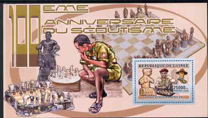 Guinea - Conakry 2006 Centenary of Scouting perf s/sheet #09 containing 1 value (Chess) unmounted mint Yv 372