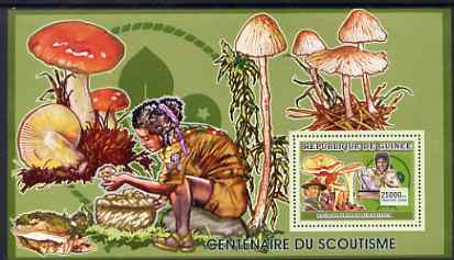 Guinea - Conakry 2006 Centenary of Scouting perf s/sheet #10 containing 1 value (Fungi) unmounted mint Yv 376
