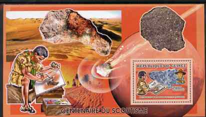 Guinea - Conakry 2006 Centenary of Scouting perf s/sheet #12 containing 1 value (Minerals) unmounted mint Yv 378