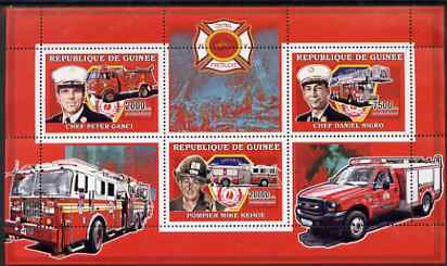 Guinea - Conakry 2006 Fire Trucks & Fire Fighters perf sheetlet containing 3 values unmounted mint Yv 2739-41