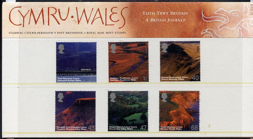 Great Britain 2004 A British Journey - Wales set of 6 in official presentation pack unmounted mint SG 2466-71
