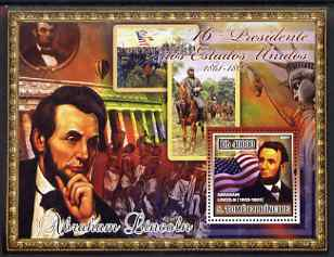 St Thomas & Prince Islands 2007 US Presidents #16 Abraham Lincoln perf s/sheet containing 1 value unmounted mint