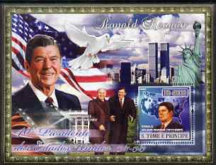 St Thomas & Prince Islands 2007 US Presidents #40 Ronald Reagan perf s/sheet containing 1 value unmounted mint